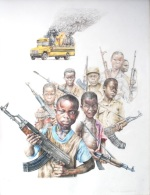 """Liberian Educates"" Colored Pencil on Paper 2013"