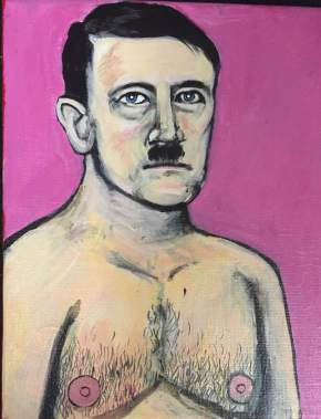 """Hot Adolf"" Acrylic on Canvas 2015"