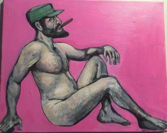 """Hot Fidel"" Acrylic on Canvas 2015"